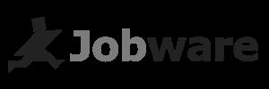 Jobware Logo schwarz weiß