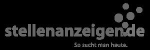 stellenanzeigen.de Logo schwarz weiß
