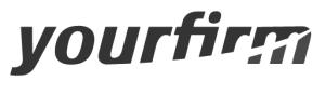 Yourfirm Logo schwarz und weiß