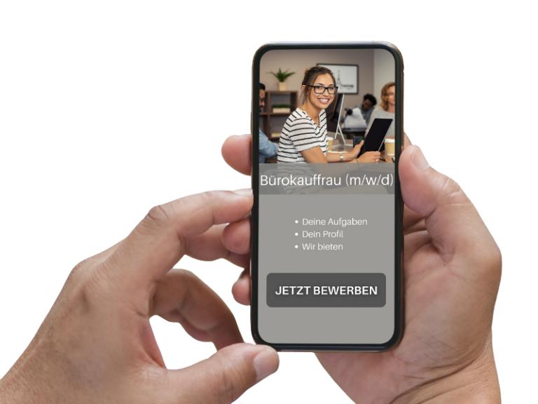 mobile optimierte Stellenanzeige